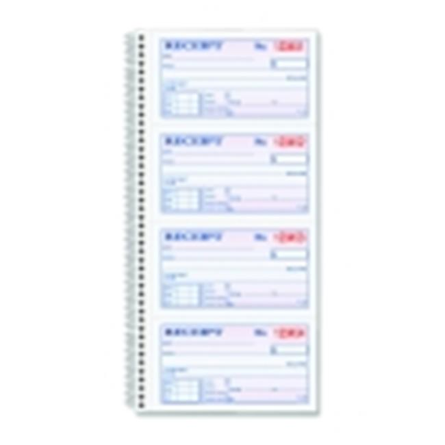 2 Parts Carbonless Duplicate Spiral Bound Money-Rent Receipt Book White-Canary, Pack of 200 by New Color