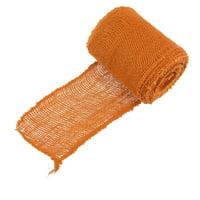 "BambooMN 5.5"" Inch Wide Color Burlap Fabric Craft Ribbon Roll Hemp Jute, 10 Yards 1 Roll Black"