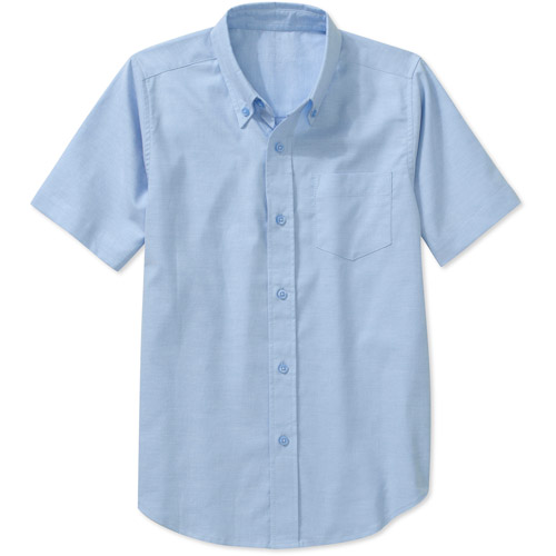 George Boys School Uniforms Short Sleeve Button Up Oxford Shirt