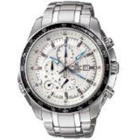Stainless Steel Edifice White Dial Alarm Chronograph Tachymeter