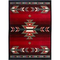 Black Red Southwestern Area Rug Contemporary Floor Dcor Carpet Rugs Runners
