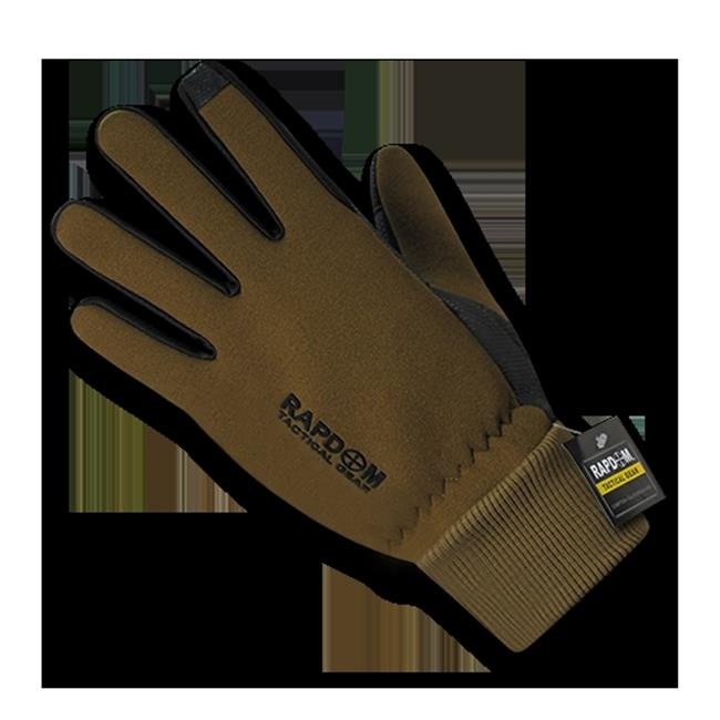 Rapid Dominance T45-PL-COY-01 Neoprene Gloves with Cuff, Coyote Small by Rapid Dominance