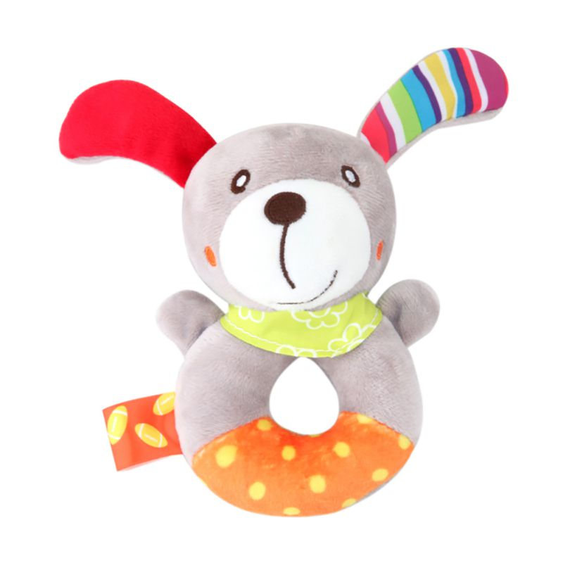 Baby Cartoon Animal Rattle Newborn Hand Grasp Toys Soft Plush Infant Crib Dolls