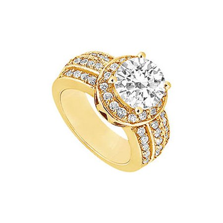Cubic Zirconia Engagement Ring 14K Yellow Gold 1.00 CT Cubic Zirconia - image 1 of 2
