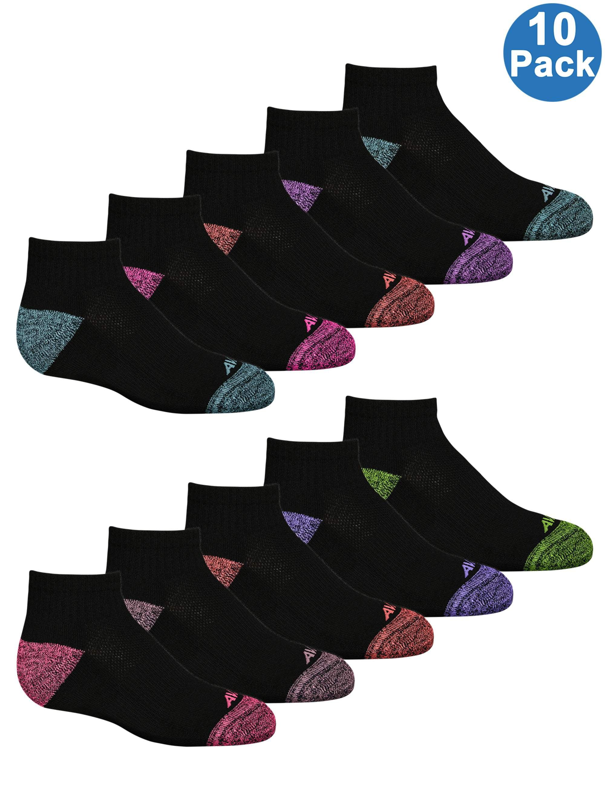 Avia Girls High Performance Low Cut Socks with Cushion Comfort 10 Pack