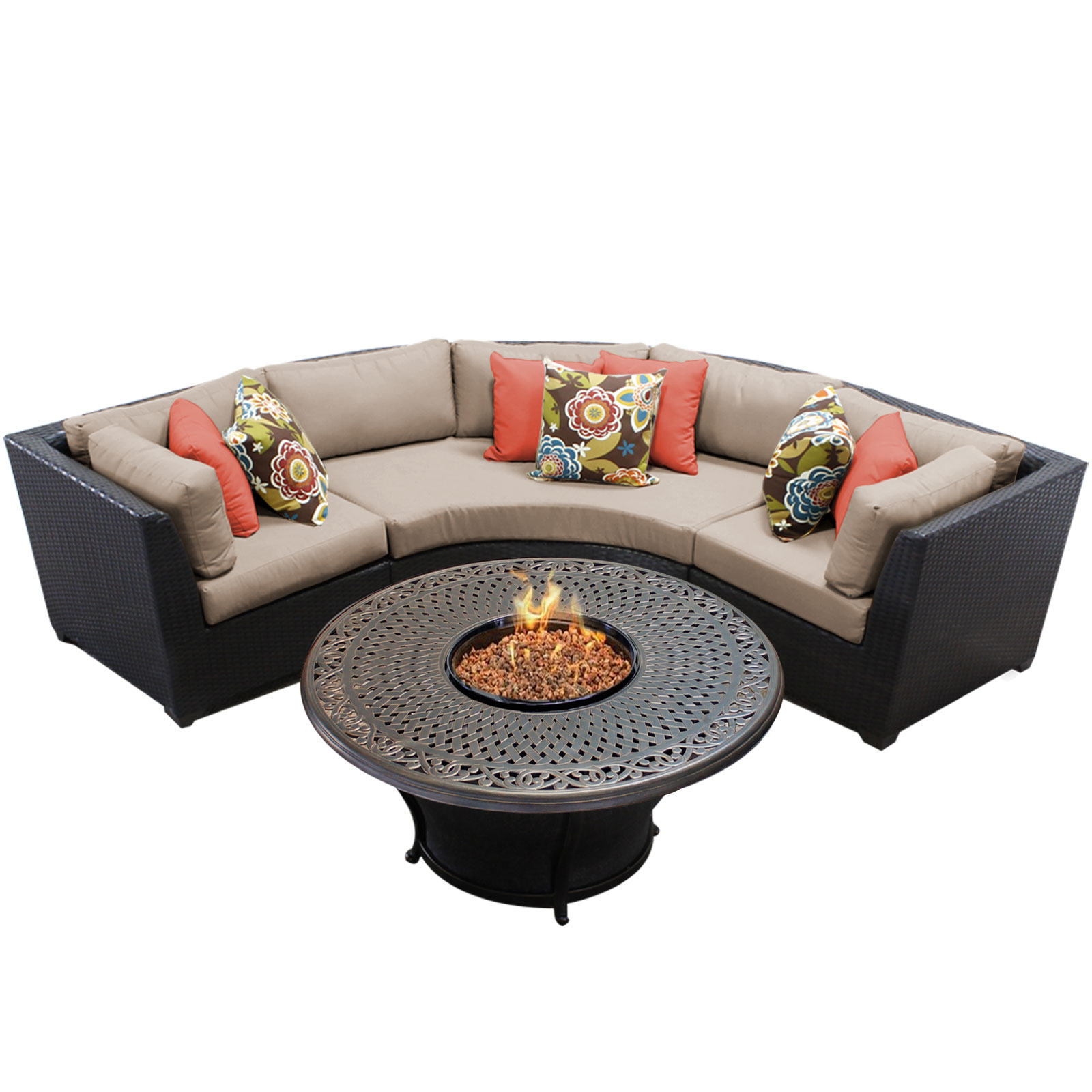 Bermuda 4 Piece Outdoor Wicker Patio Furniture Set 04f