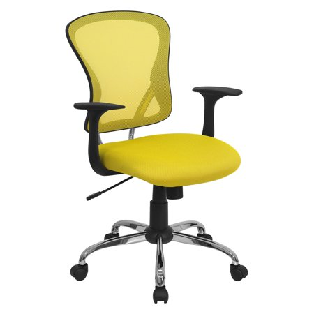 Flash Furniture Mesh Desk Chair with Chrome Base, Multiple Colors ()