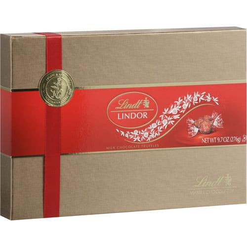 Lindt Lindor Milk Chocolate Truffles Gift Box, 9.7 oz - Walmart.com