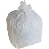 Plastic Mill 33 Gallon White Garbage Bag,0.7 MIL,33x39,150/Case