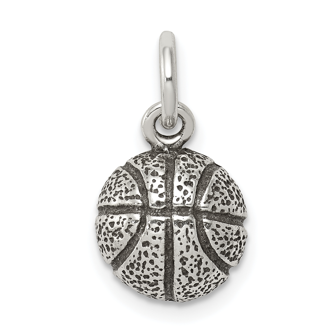 925 Sterling Silver Basketball Pendant Charm Necklace Sport Fine Jewelry Gifts For Women For Her - image 2 of 2