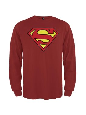 6f67cae89b4fd4 Product Image Superman - Shield Logo Red Long Sleeve T-Shirt
