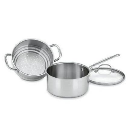 Conair-Cuisinart  3 qt Chefs Classic Stainless SteAmer Set - 3 Piece
