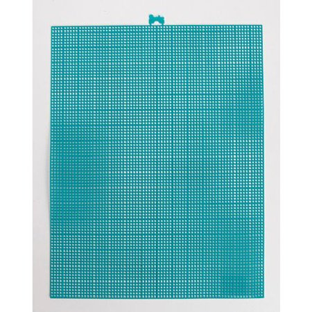 7 Mesh Count Peacock Blue Plastic Canvas Sheet 10.5 x 13.5 Inch 7 Mesh Plastic Canvas