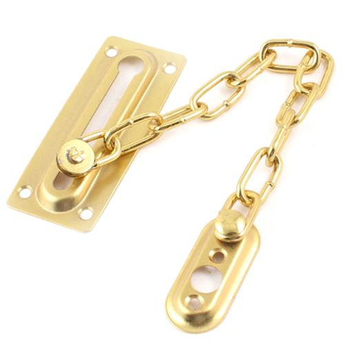 Gold Tone Metallic Security Chain Guard for Interior Home - Security Door Chain