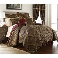 Chezmoi Collection Seville 9-Piece Medallion Paisley Floral Jacquard Oversized Comforter Set