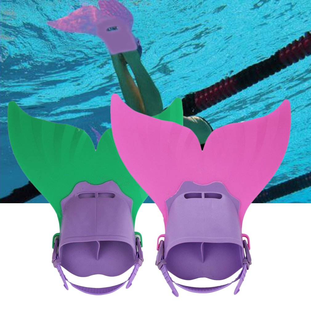 Swimming Costume Kids Swimmable Monofin Mermaid tail Mono Fin Flippers,pink