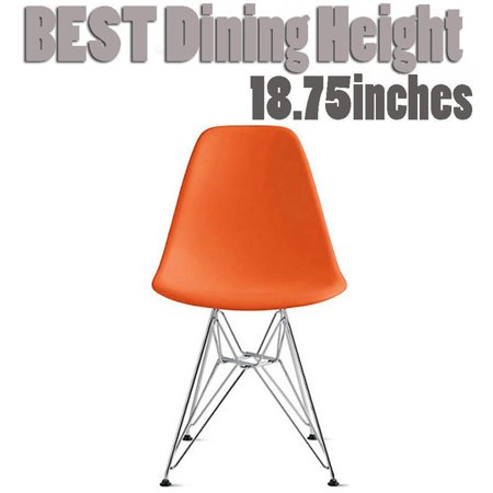 Pleasant 2Xhome Orange Desk Chair Mid Century Modern Industrial Contemporary Plastic Molded Shell Assembled Chair Chrome Wire Metal Eiffel Side Armless No Arms Alphanode Cool Chair Designs And Ideas Alphanodeonline