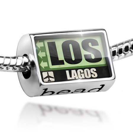 - Bead Airportcode LOS Lagos Charm Fits All European Bracelets