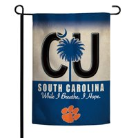 "Clemson Tigers WinCraft South Carolina State License Plate Two-Sided 12"" x 18"" Garden Flag"