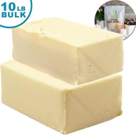 Premium Nature Organic Shea Butter Raw Unrefined Pure African 10 lb Bulk ()