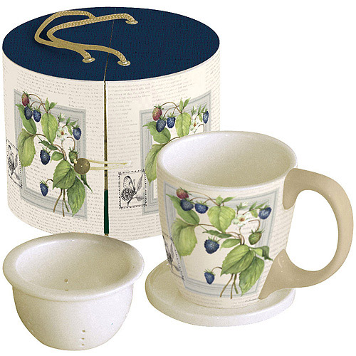 Lang 11-Ounce Tea Mug Gift Set, Blackberries