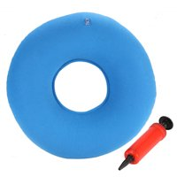 Yosoo Inflatable Round Chair Pad Hip Support Hemorrhoid Seat Cushion With Pump(Blue)