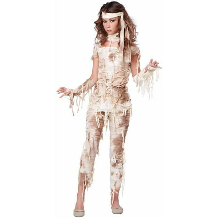 Mysterious Mummy Girls' Teen Halloween Costume - Mummy Halloween Face