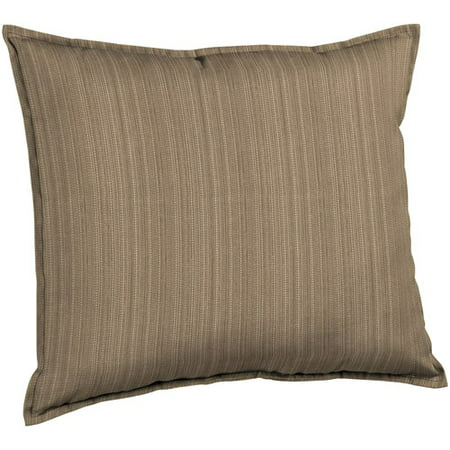 Better homes and gardens deep seat pillow back outdoor cushion tan stria for Better homes and gardens deep seat cushion