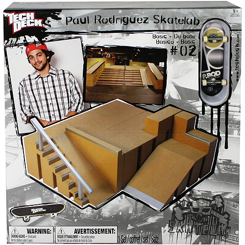 Tech Deck Paul Rodriguez Small Skatelab, Right Stairs and Euro Obstacle