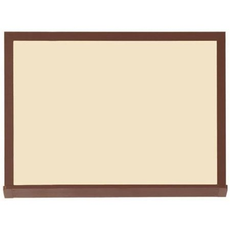 AARCO Products 420WWD3648V2 High Performance Series Wood Look (Walnut) Porcelain Markerboard