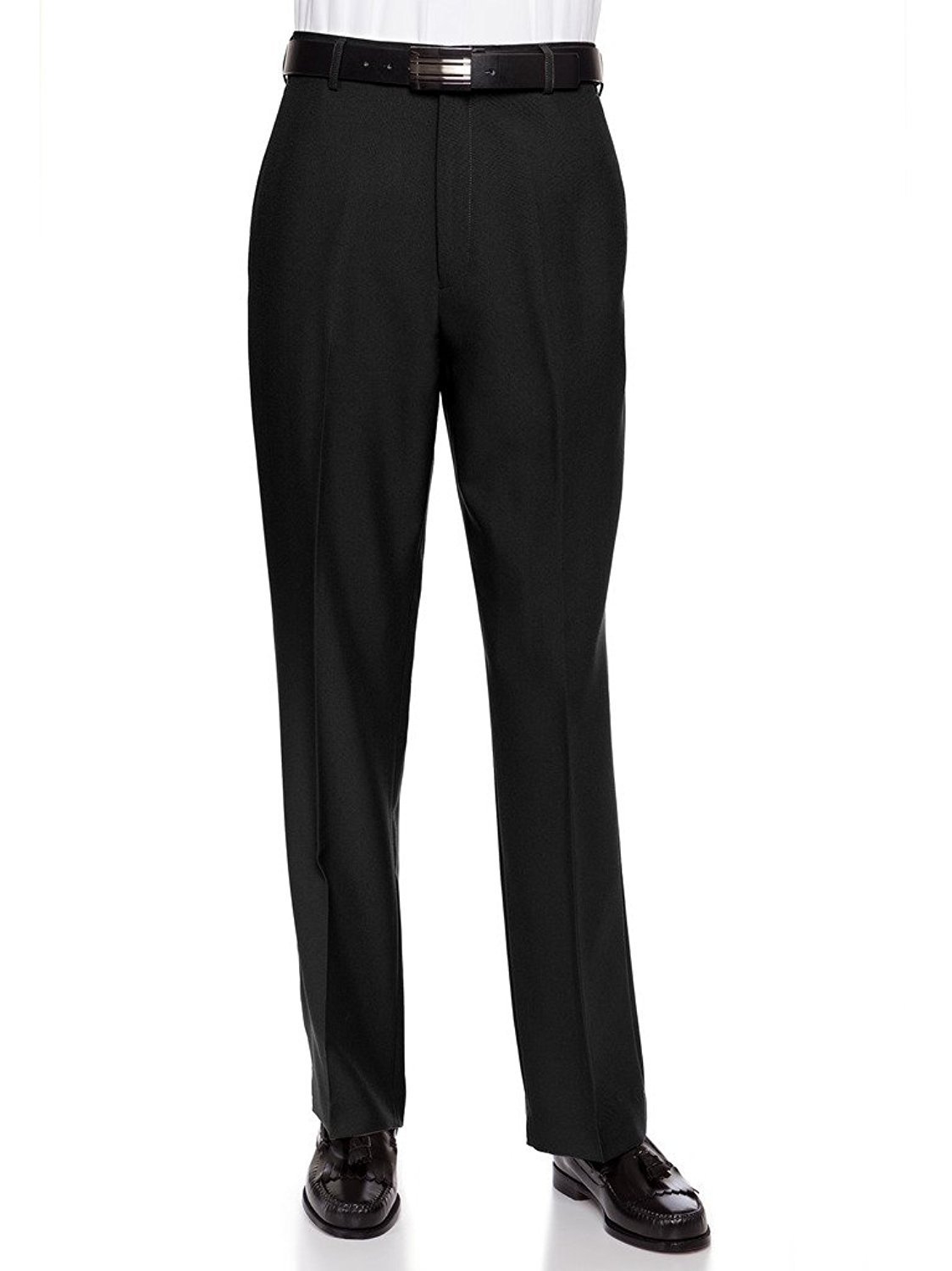 RGM Men's Flat Front Traditional Fit Dress Pant