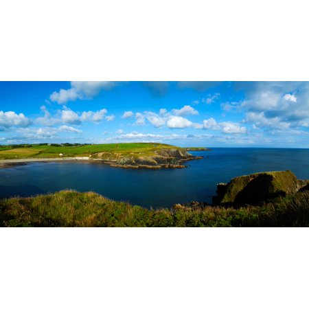 Island In The Sea Dunabrattin Cove Copper Coast Geopark County Waterford Republic Of Ireland Canvas Art   Panoramic Images  27 X 9
