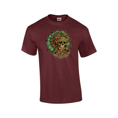 Aztec Warrior Skull T-Shirt