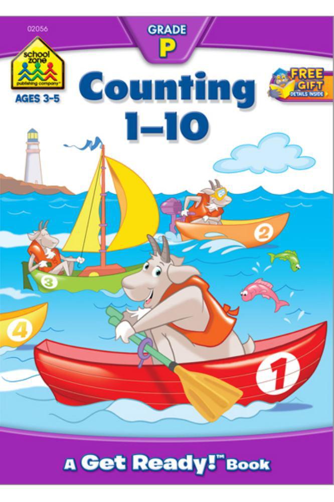 School Zone Preschool Workbooks, Counting 1-10 by School Zone