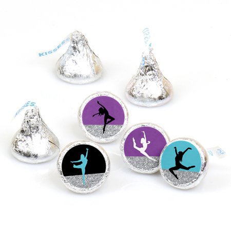 Must Dance to the Beat - Dance - Birthday Party or Dance Party Round Candy Sticker Favors - Labels Fit Hershey's Kisses (Halloween Dance Party Pittsburgh)