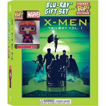 X-Men 1 + X-Men 2 + X-Men 3 (3 Movie Collection) (Blu-ray + Digital Copy + Funko Keychain) (WM Exclusive)