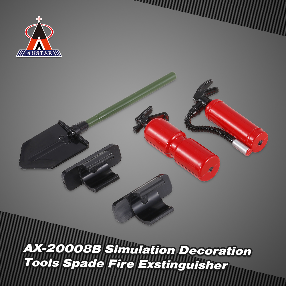 4x 1//10th RC Truck Body Decoration Axe Scoop Tool Kit for Axial SCX10 Yellow