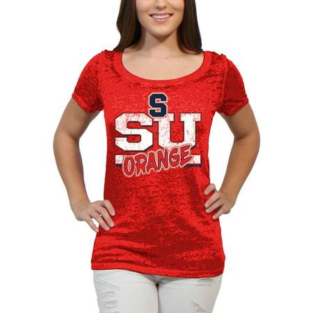 Syracuse Orange Block Graffiti Women'S/Juniors Team Short Sleeve Scoop Neck Tee Shirt