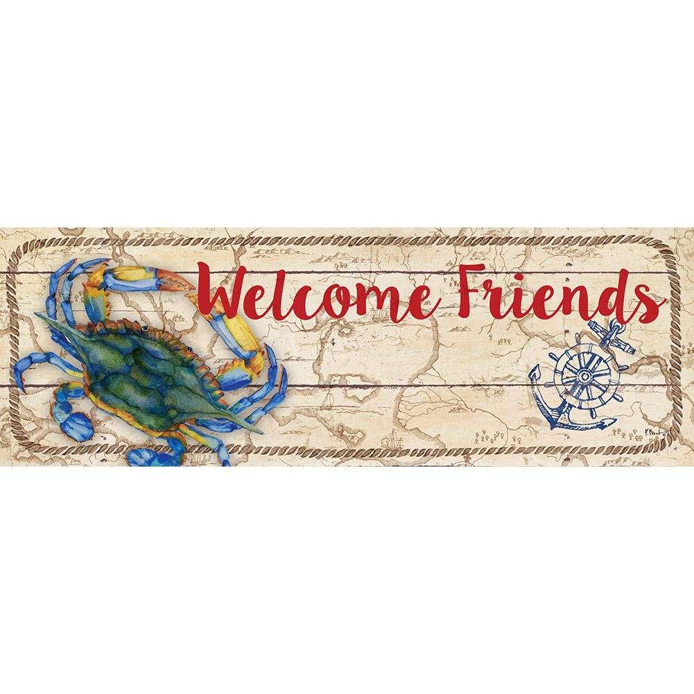 Custom Decor Signature Sign - Coastal Crab