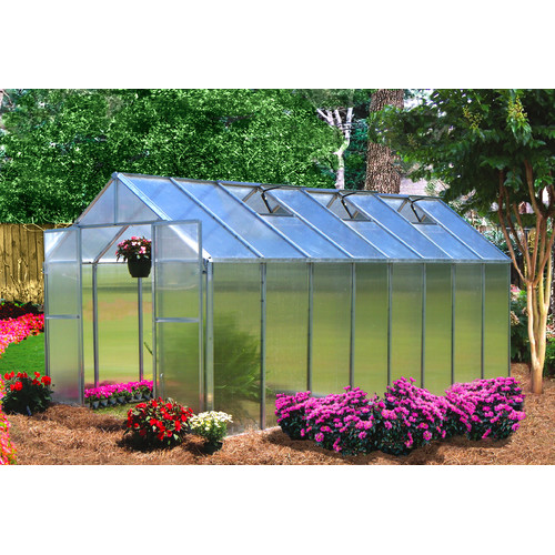 Riverstone Industries Monticello 8 Ft. W x 16 Ft. D Hobby Greenhouse by Riverstone Industries