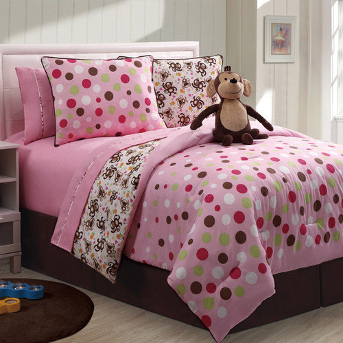 Victoria Classics Monkey Reversible Comforter Mini Set