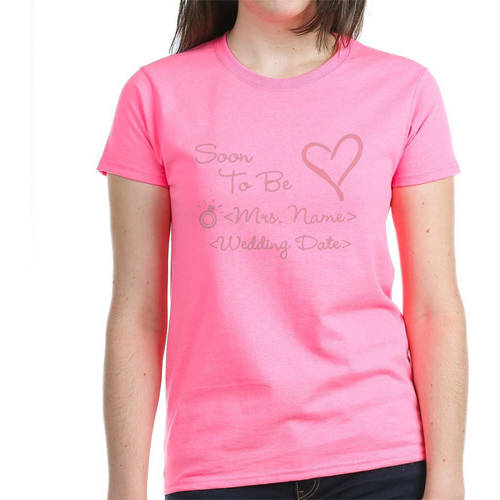 Personalized Customize Soon To Be Mrs. (Name) Women's Dark T-Shirt