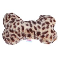 "6"" Plush Bone Dog Toy Cheetah"