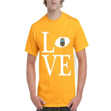 Love Mexico State of Baja California Men's Short Sleeve T-Shirt