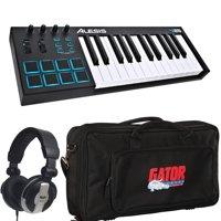 Alesis 25 Key USB MIDI Keyboard & Drum Pad Controller With Gator Bag + Headphone