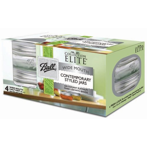 Alltrista Platinum Collection Elite 0.25 qt. Canning Jar Set (Set of 4)