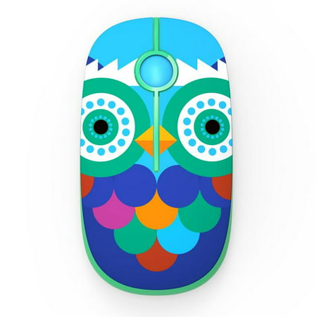 Jelly Comb (Wireless mouse AQW07) 2.4G Slim Wireless Mouse with Nano Receiver (Owl)