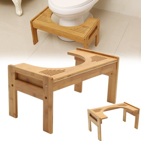 - Bamboo Bathroom Potty Help Prevent Constipation Aid Squatty Step Foot Stool