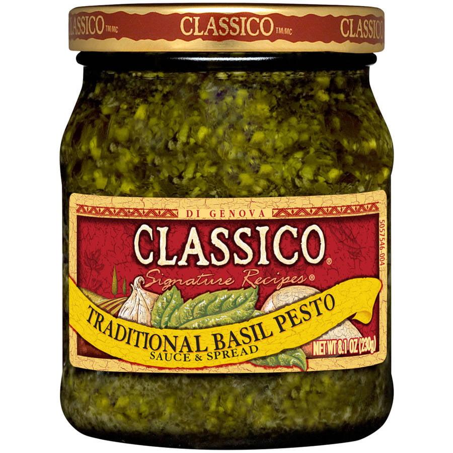 Classico Signature Recipes Traditional Basil Pesto Sauce & Spread, 8.1 oz
