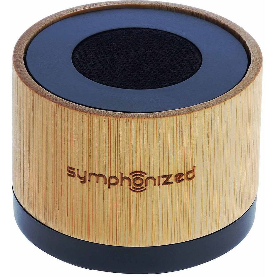 Symphonized NXT Premium Genuine 1-Piece Solid Hand Carved Bamboo Wood Bluetooth Portable Speaker